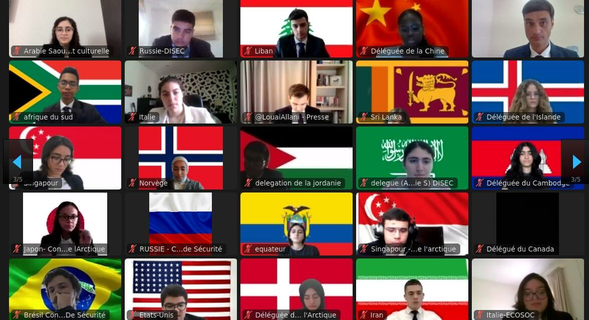 model united nations les 21 et 22 mai 2021 : nos élèves deviennent négociateurs internationaux !