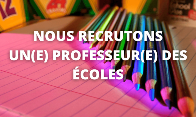 l'école recrute un(e) professeur(e) des écoles